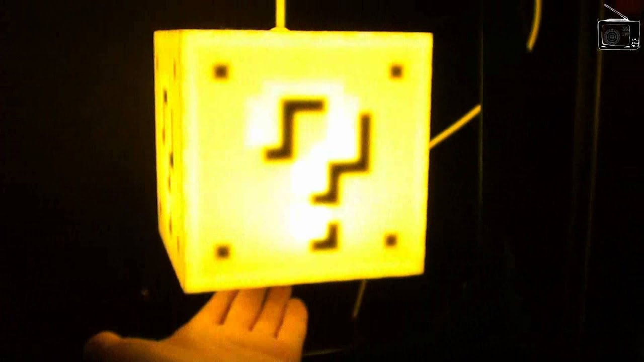Super Mario Question Block Lamp By 8 Bit Lit Gaming