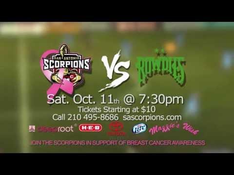 San Antonio Scorpions vs. Tampa Bay Rowdies- Breast Cancer Awarness Night