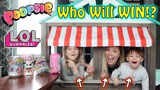 LAST to LEAVE the PLAYHOUSE WINS Poopsies or L.O.L. Surprise!