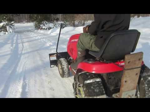 Troybuilt lawn tractor drive and plow