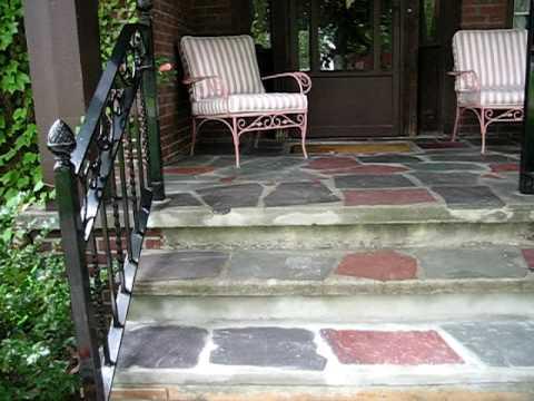 Flagstone Concrete Step Repair 1 Youtube