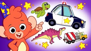 Cartoons for kids | Cars, Animals & Dinosaurs | Educational videos for children | Club Baboo