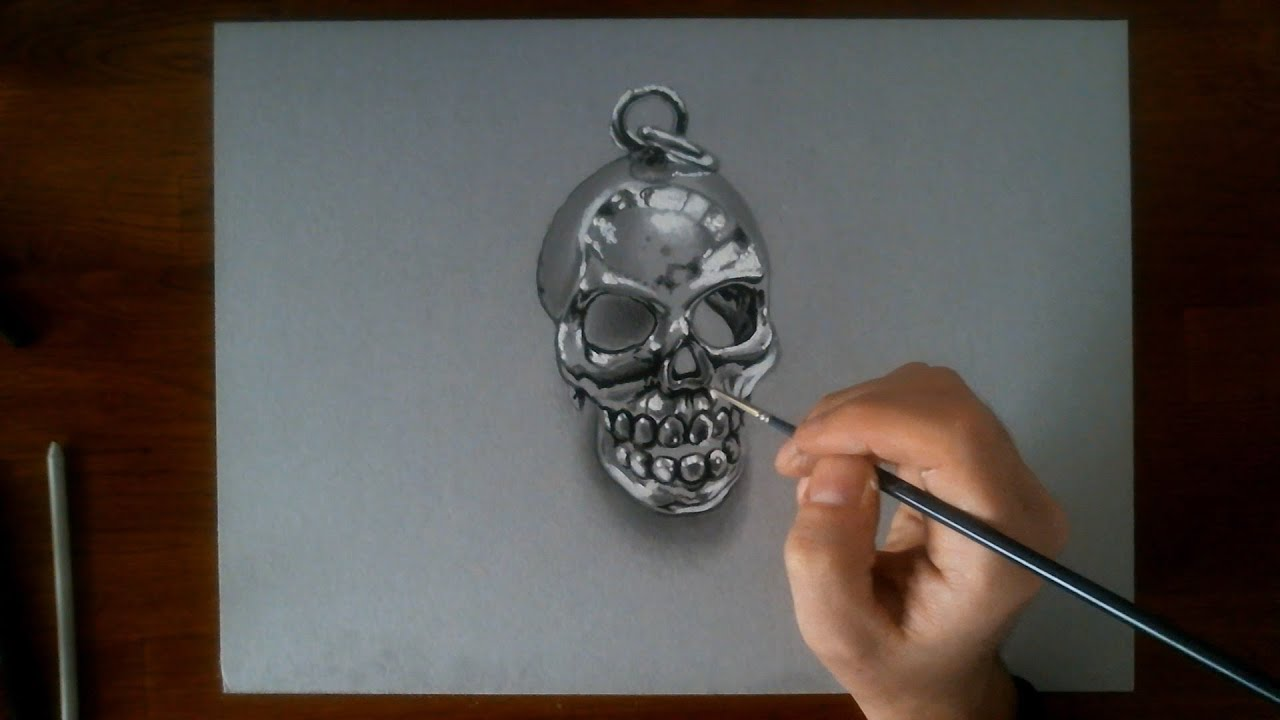 Crazy Skull Drawings Crazy Drawing Illusion 3d