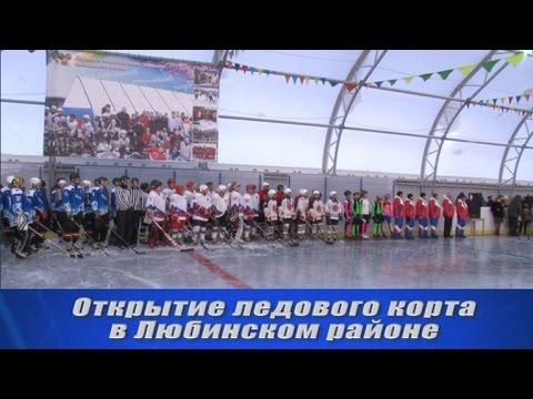 Открытие ледового корта в Любинском районе