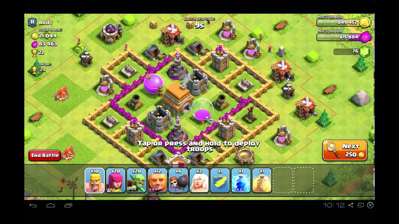 Coc 8 th6 giants healers attack strategy 300k raid youtube