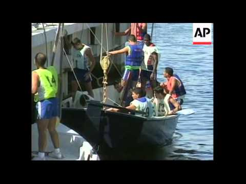 BRAZIL: RIO: NAVAL STUDENTS TAKE PART IN ECOLOGICAL REGATTA