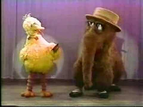 Classic Sesame Street - Big Bird And Snuffy Go Vaudeville! video