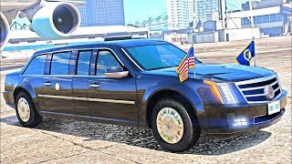 2017 President Escort GTA 5 Mod Game! DONALD TRUMPS Escort LIMO!