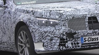 Mercedes Erlkönig S-Klasse W223 the KING next generation S-Class 2020 on the road 4K SPY VIDEO