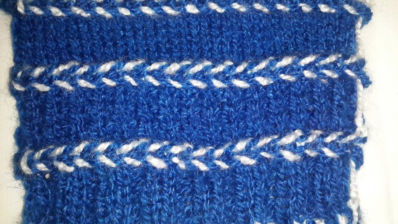 Dori Design for Sweater / Cardigan in Hindi   Easy Knitting - Hot ...