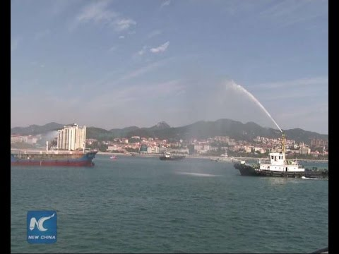 China, South Korea launch oil spill drill off shore