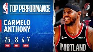 Melo Drops 25 To Become 18th ALL-TIME In PTS!