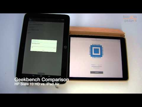 HP Slate 10 HD vs iPad Air