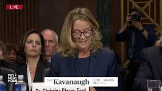 Christine Blasey Ford's opening remarks at Kavanaugh hearing: 'I believed he was going to rape me'