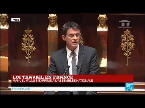 Loi Travail : le premier ministre Manuel Valls invoque le 49-3, l'opposition quitte l'Assemblée