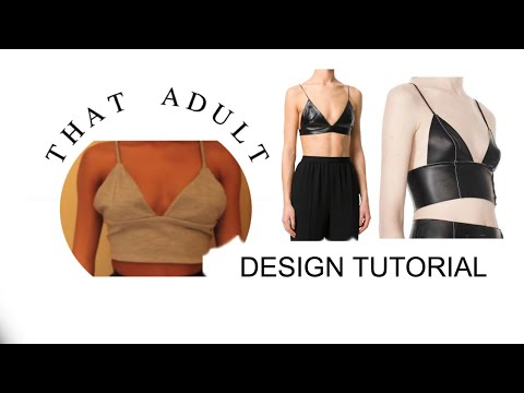 Sewing Pattern Triangles Diy Triangle Crop Top Sewing