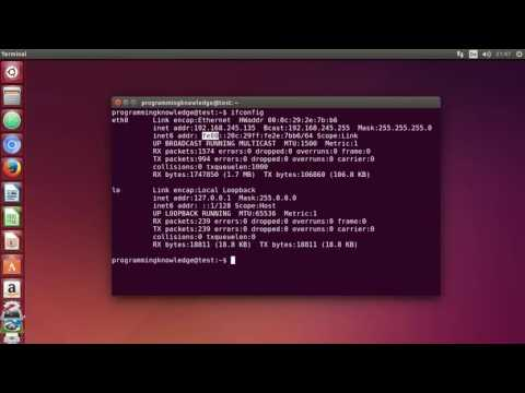 Linux Command Line Tutorial For Beginners 35   ifconfig command