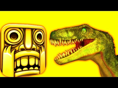 TEMPLE RUN with RAPTORS  ♫  3D animated  DINOSAUR-GAME mashup ☺ FunVideoTV - Style ;-)) thumbnail