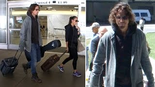 Chris Cornell Arrives At LAX With Wife Vicky
