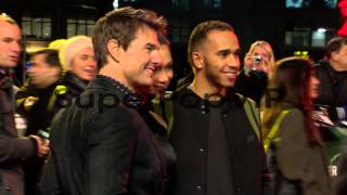 Lewis Hamilton, Nicole Scherzinger, Tom Cruise at