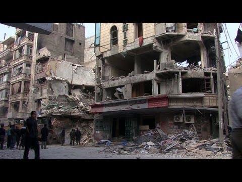 Syrian hospital in Aleppo destroyed by air strike