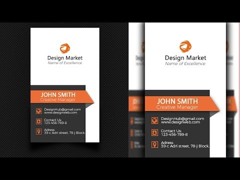 Business card   Design   Photoshop   Clean   Simple   Examples   Ideas   Tutorial