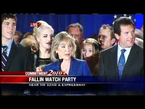 Mary Fallin Makes Victory Speech