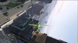 GTA 5 DOING SICK TRICKS AND STUNTS IN A PLANE BEST STUNT EVER (VERY NEAR MISSES)