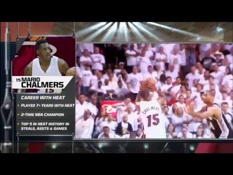 December 13, 2015 - FSS - Miami Heat Honor Mario Chalmers on his return Game to Miami (Vs Grizzlies)