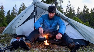 Camping in the Cold Northern Gale