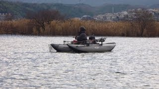 2013.1.6 FBI 琵琶湖フローター釣行 Float Tube Pontoon Boat Bass Fishig