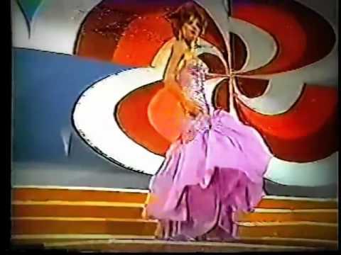 susana caldas señorita colombia 1983 desfile de traje de baño y gala.