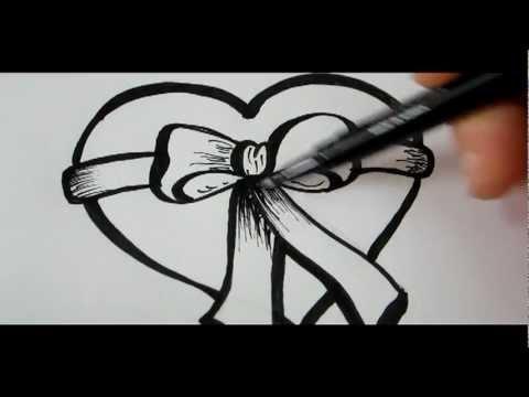 Видео как нарисовать красивое сердечко карандашом