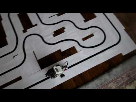 Fast Line Tracer Robot (2nd attempt) - Lego Mindstorms NXT 2.0
