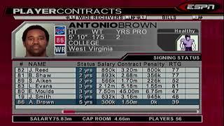 ESPN NFL 2K5 BILLS FRANCHISE SEASON 1 PRESEASON