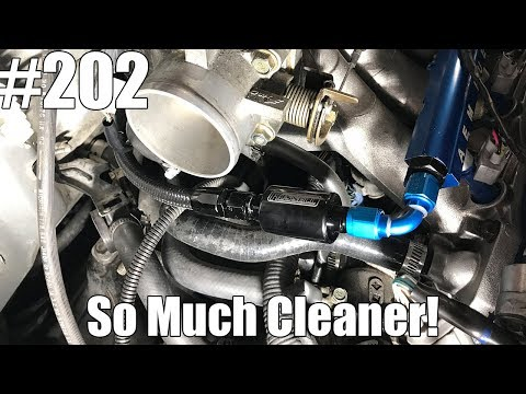 How to relocate your Fuel Filter for a cleaner look! Honda's & Acura's