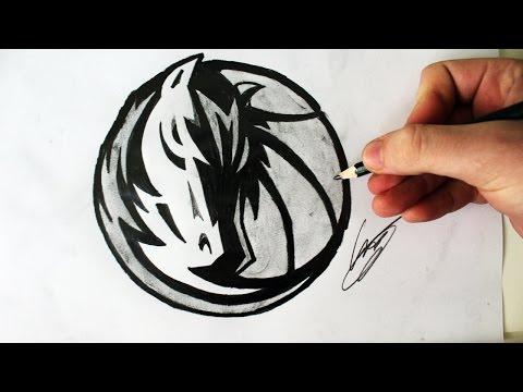 Como Desenhar a logo dos Dallas Mavericks [NBA] - (How to Draw Dallas Mavericks logo) - NBA LOGOS #2