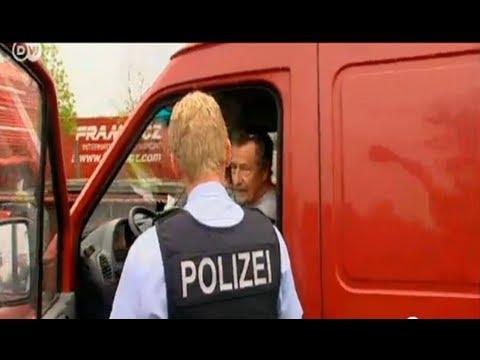 Будни полиции на польско-германской границе