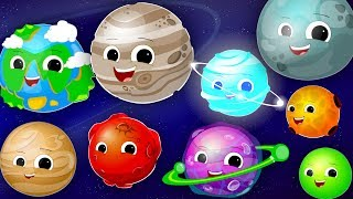 Planets Song | Learn the Planets | Nursery Rhyme | Kids Songs