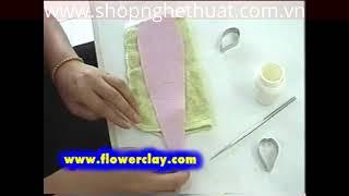 Cách làm hoa đất sét Nhật Bản - Hoa Chavrkuan P1