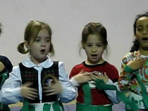 2008: Lyceum Kennedy school:-performing her first holiday show song with class, part 2