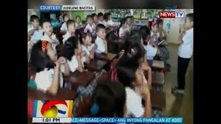 BT: Mga Grade 1 student na nag-viral sa 'good morning, teacher' video, may bagong pakulo