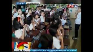 BT: Mga Grade 1 student na nag-viral sa 'good morning, teacher' video, may bagong pakulo