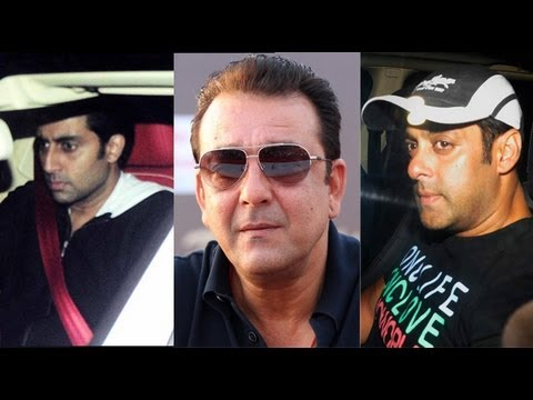 Salman Khan, Ajay Devgn, Abhishek Bachchan Visit Sanjay Dutt As He Braces For Prison Life