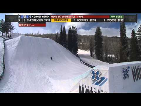 X Games Aspen 2013: Nick Goepper Men's Ski Slopestyle GOLD