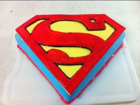 Superman   Man Of Steel Cake (How To)
