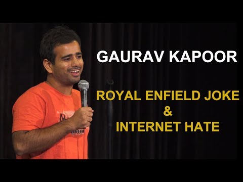 Royal Enfield Joke  Internet Hate  Stand Up Comedy by Gaurav Kapoor