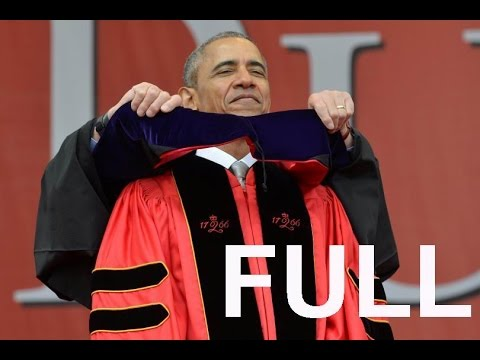 Full speech President Obama at Rutgers commencement (5-15-16). President Obama Attacks Trump.