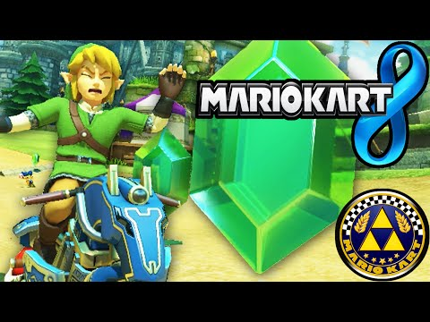 Mario Kart 8: Zelda Hyrule DLC! Link's Master Cycle Triforce Cup New Characters Gameplay Walkthrough