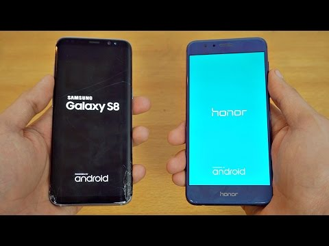 Samsung Galaxy S8 vs Honor 8 - Speed Test! (4K)